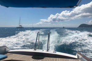 in navigazione con il Motoscafo Cerasella
